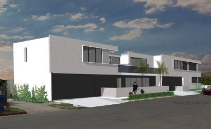 Beach house, venice beach, architecture, poirier design, michael poirier, modern architecture duplex